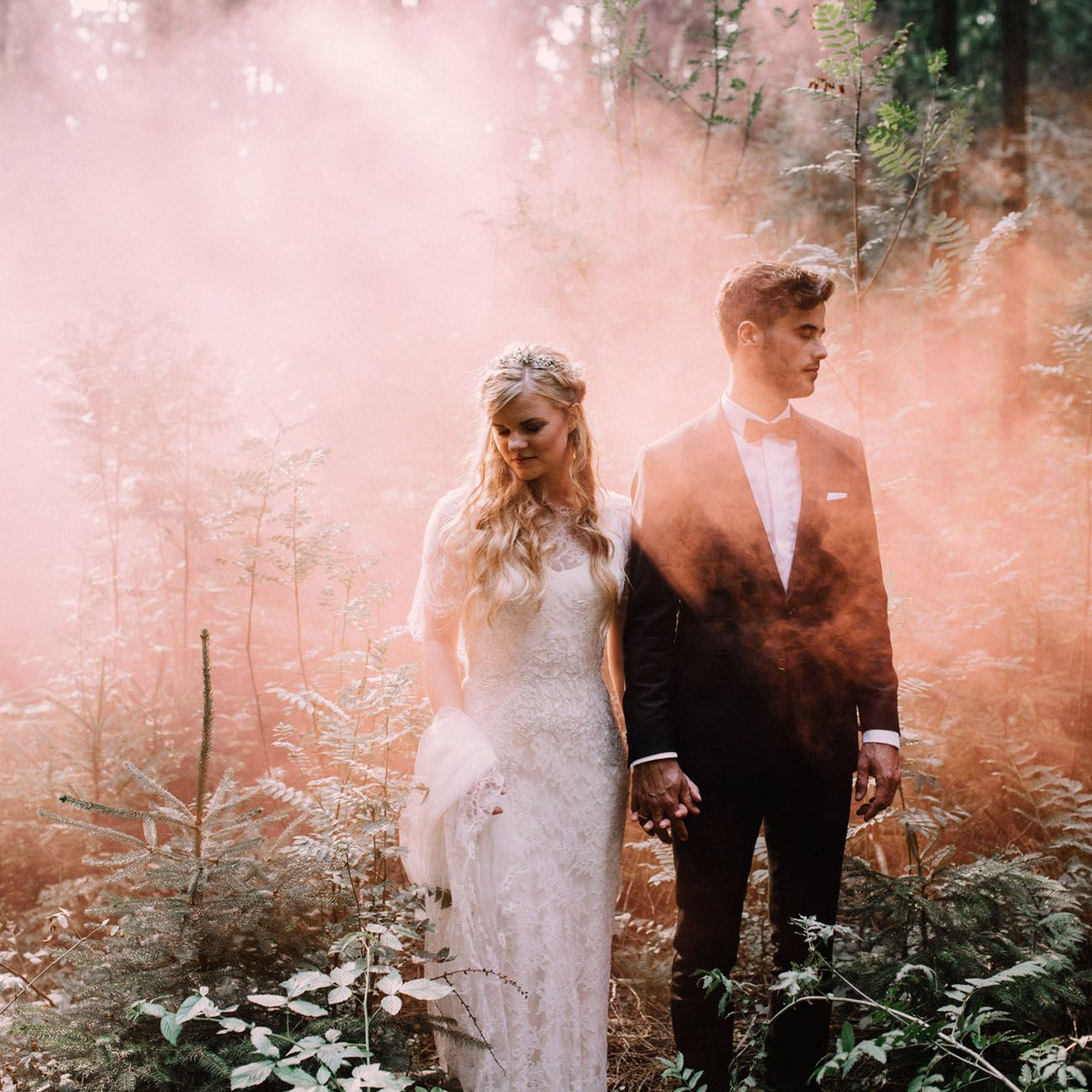 9ff1d0788f9af 25 Cool & Colorful Reasons You Need Smoke Bombs in Your Wedding ...