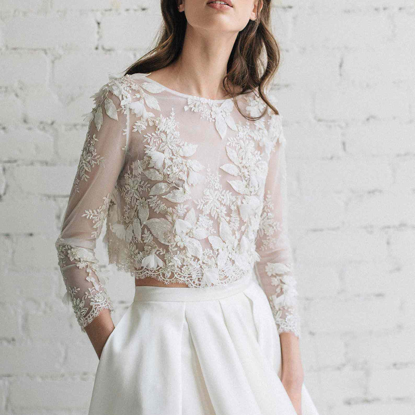 beaded top and skirt