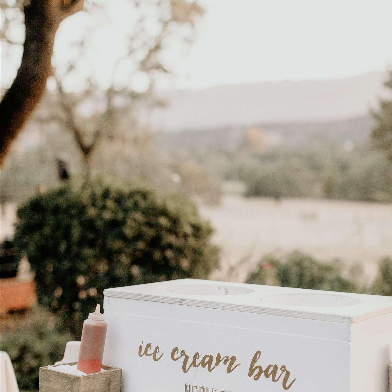 wedding ice cream bar