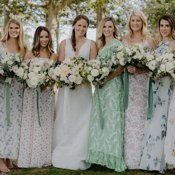 mismatched dresses