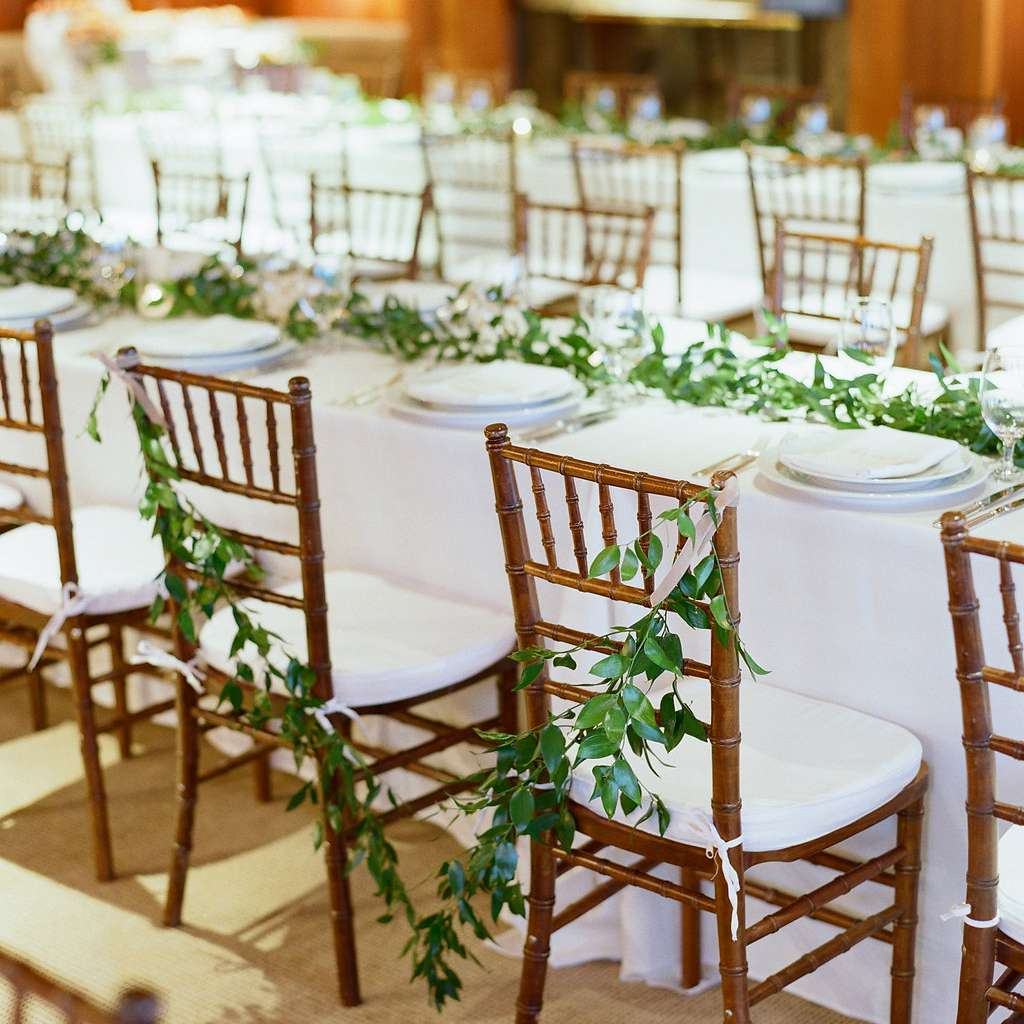 Greenery Table Runners and Chair Decor