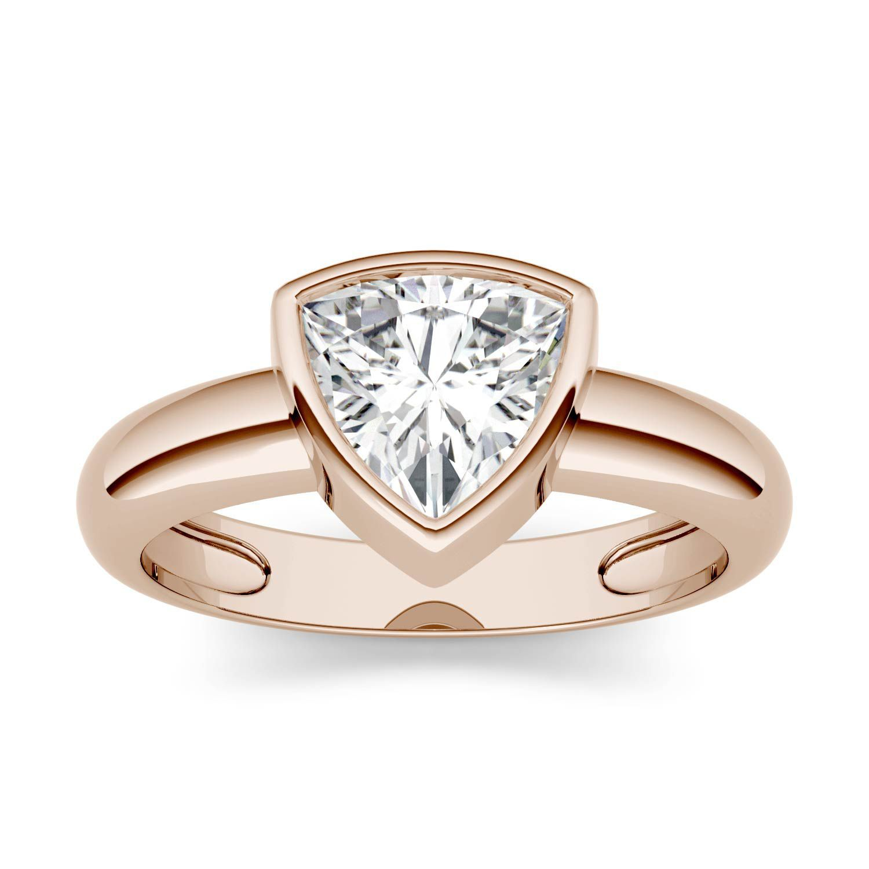Charles & Colvard Forever One Trillion Near-Colorless Moissanite Engagement Ring