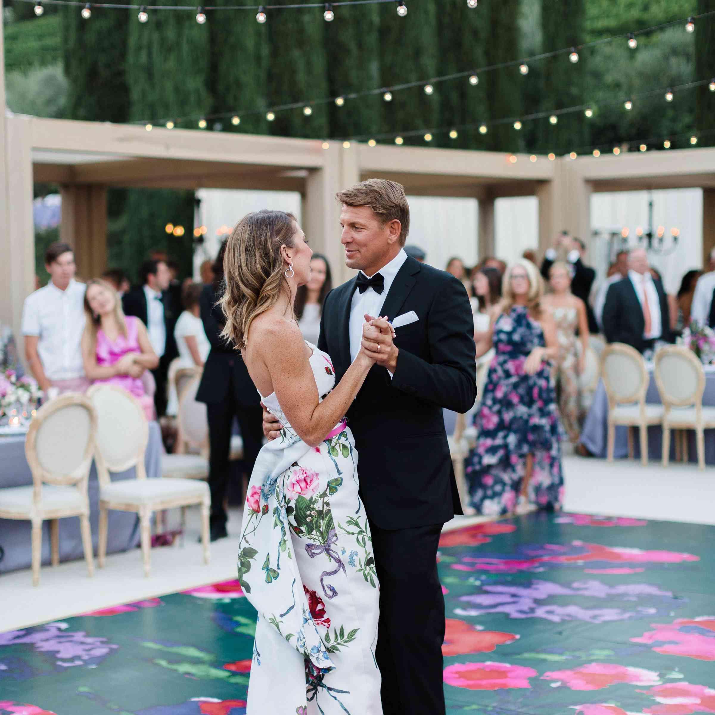 flower printed wedding dance floor
