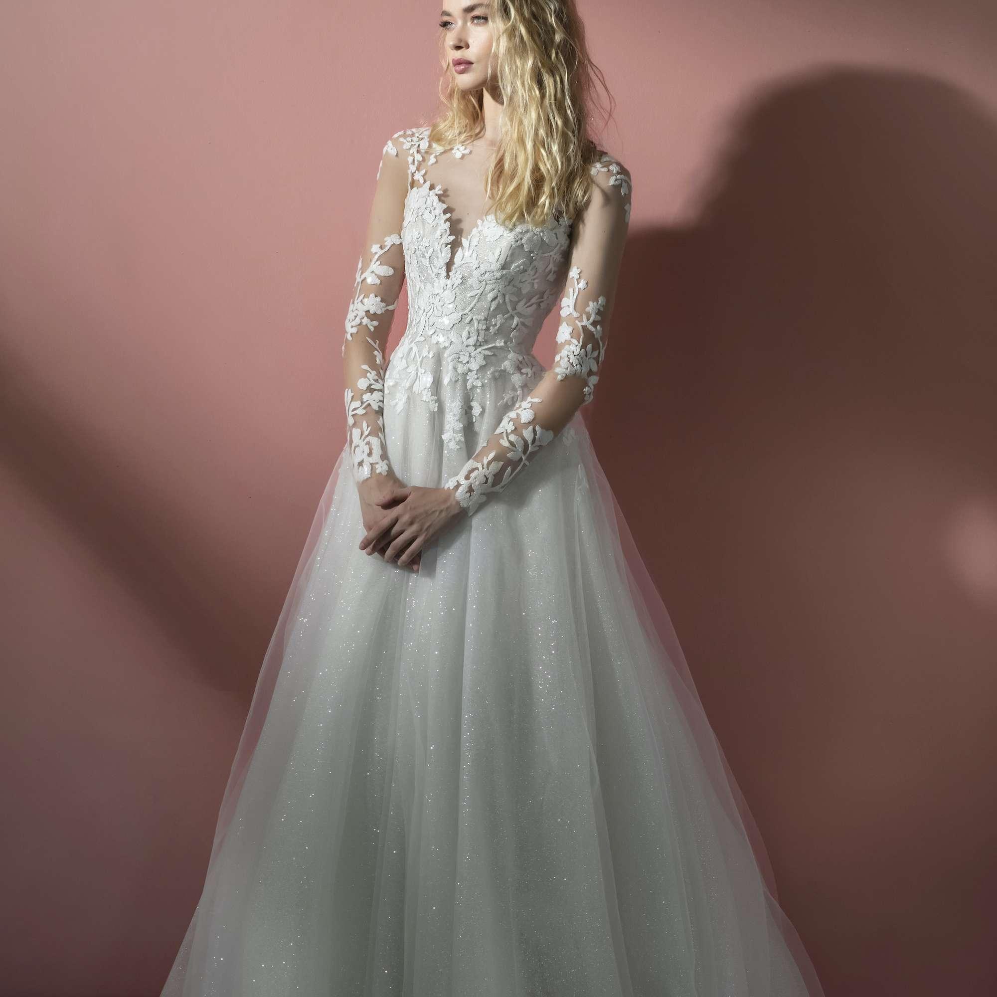 Augie long sleeve wedding dress