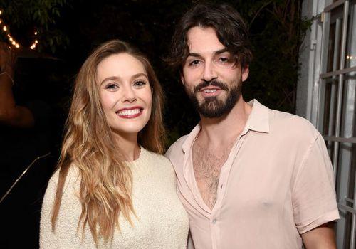 Elizabeth Olsen and Robbie Arnett attend the 2017 Gersh Emmy Party.