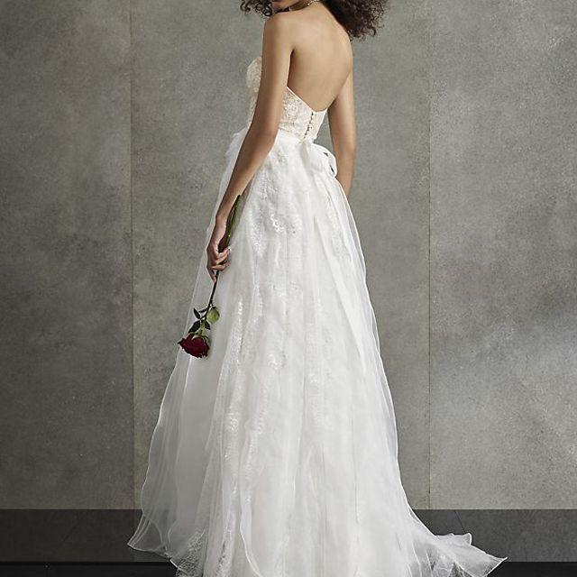 White by Vera Wang Lace Cascade Wedding Dress $718.80, was $1,198
