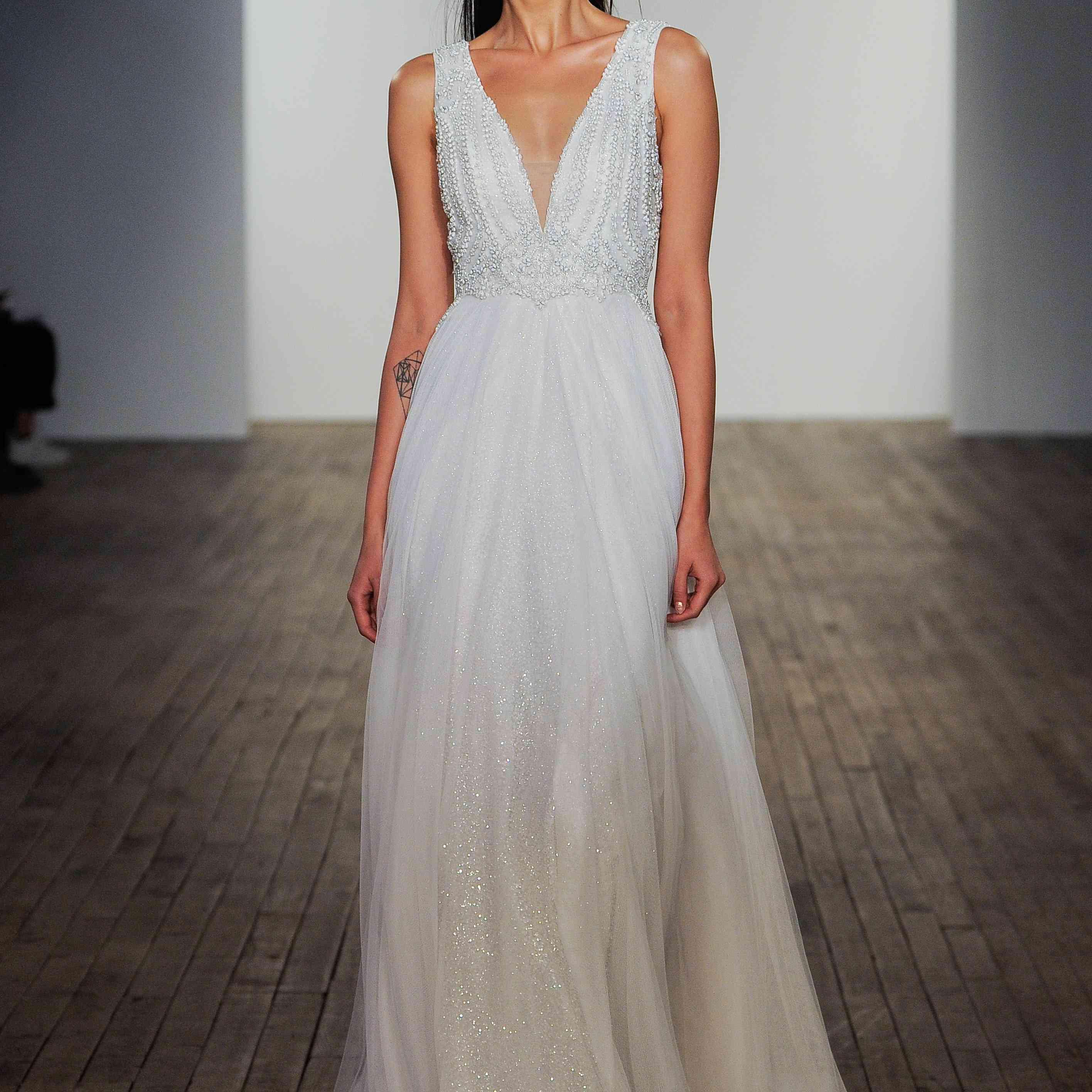 Maya embroidered sleeveless wedding dress