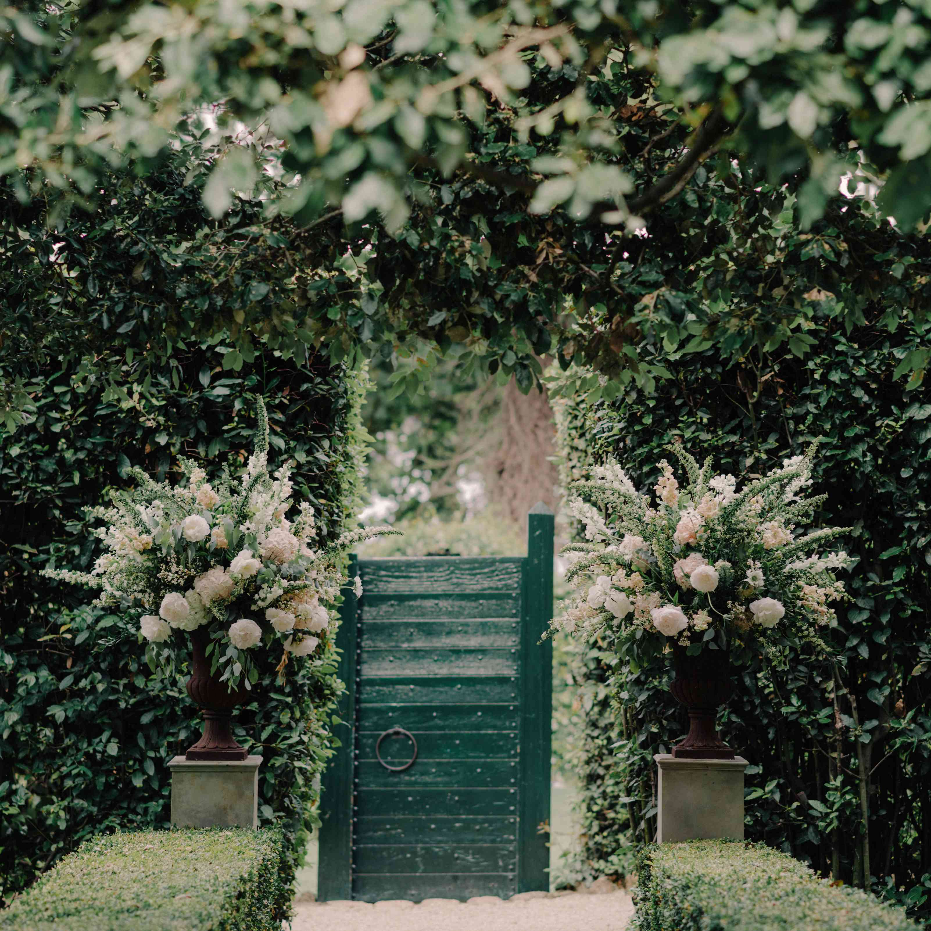 Garden-Lined Aisle
