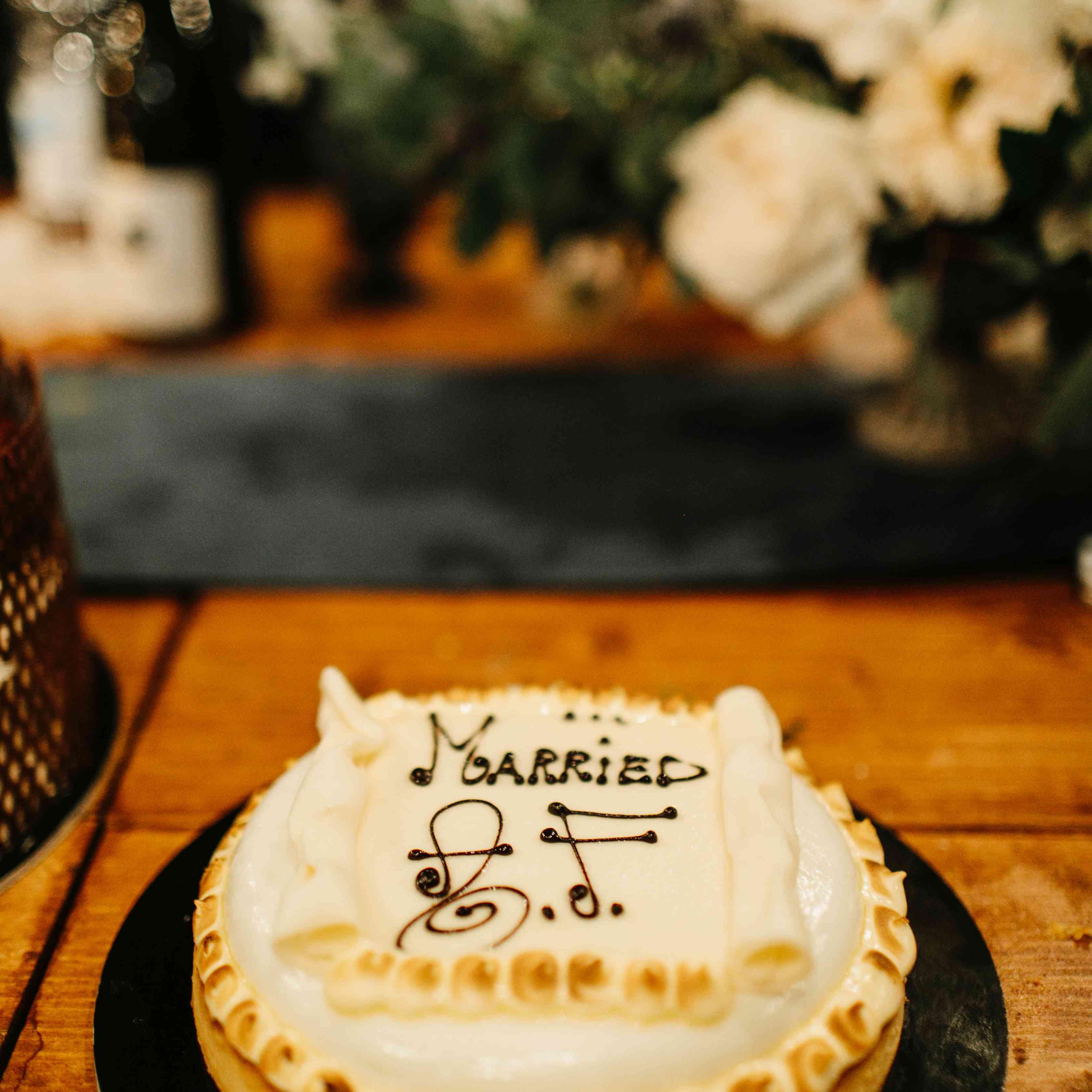 <p>married AF wedding cake</p><br><br>