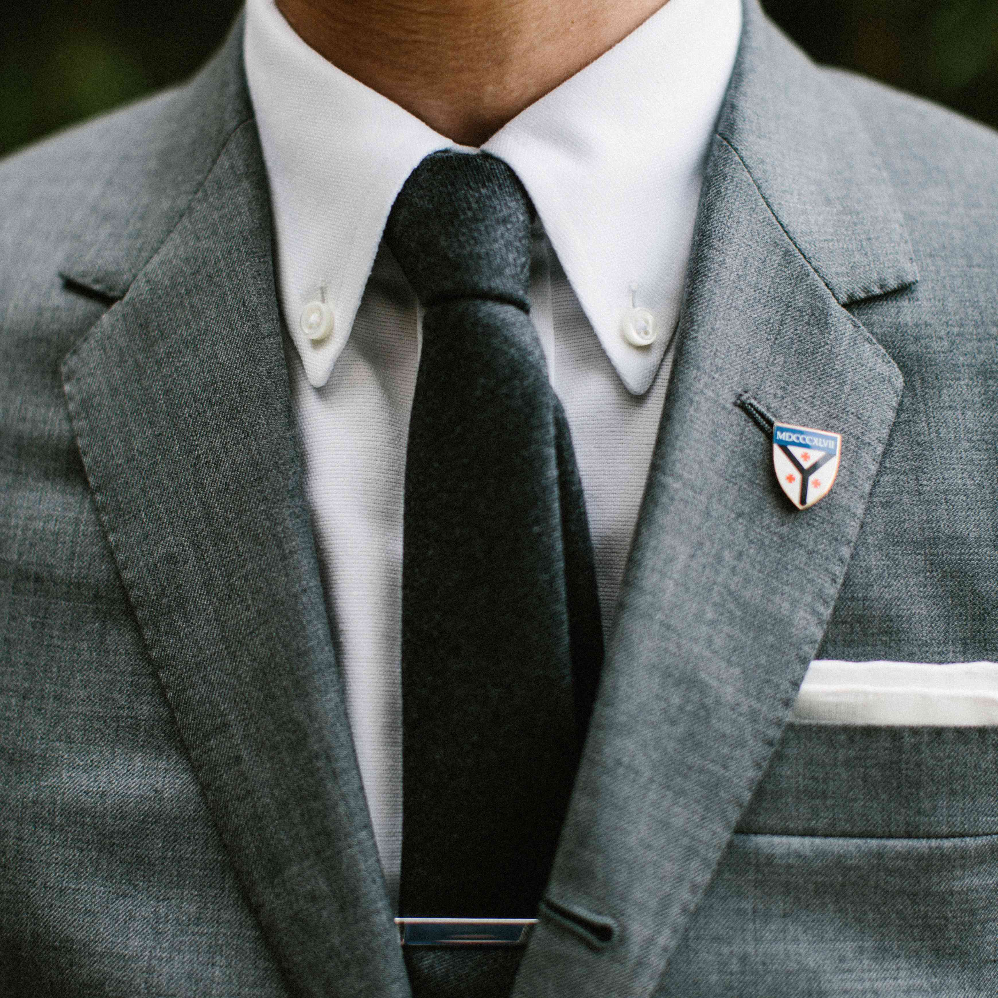 Groom tie close up