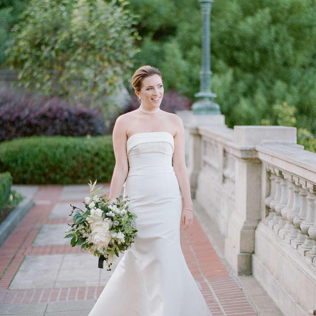 strapless trumpet wedding dress carolina herrera