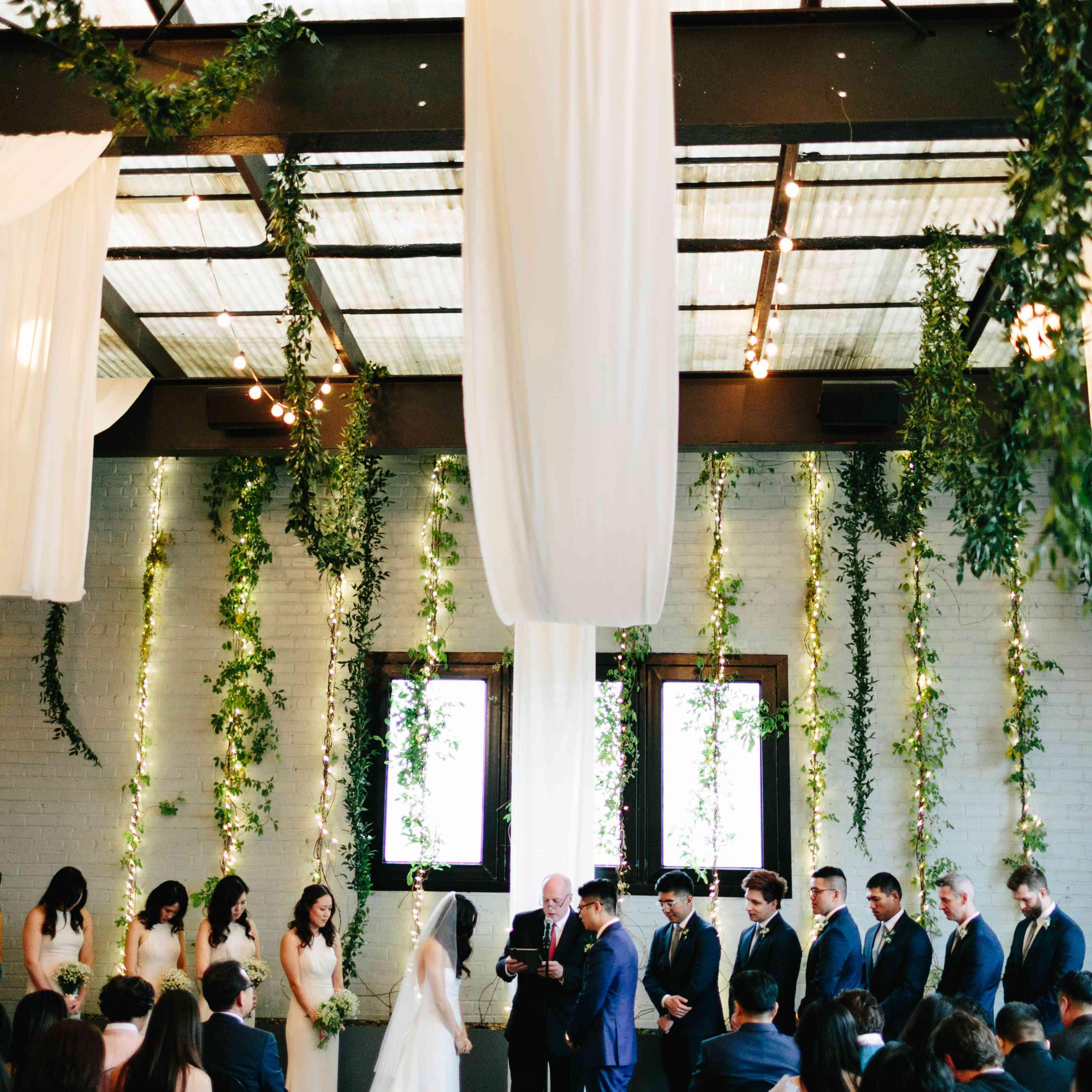 Minimalist wedding reception