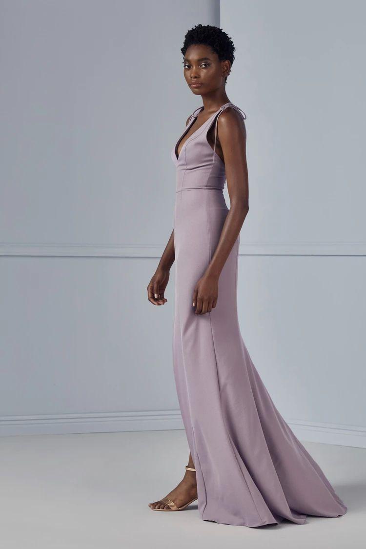 mauve bridesmaid dress
