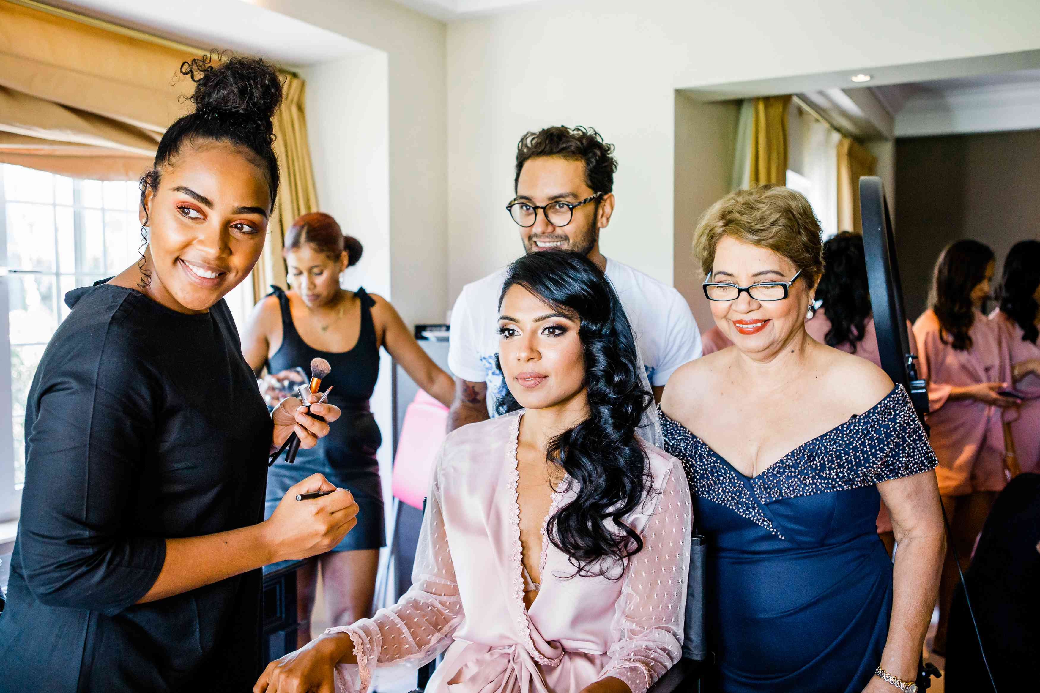 Bride with glam squad