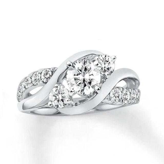 Kay Jewelers Diamond Engagement Ring 1 Carat tw 14K White Gold