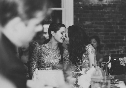Black and white lesbian wedding