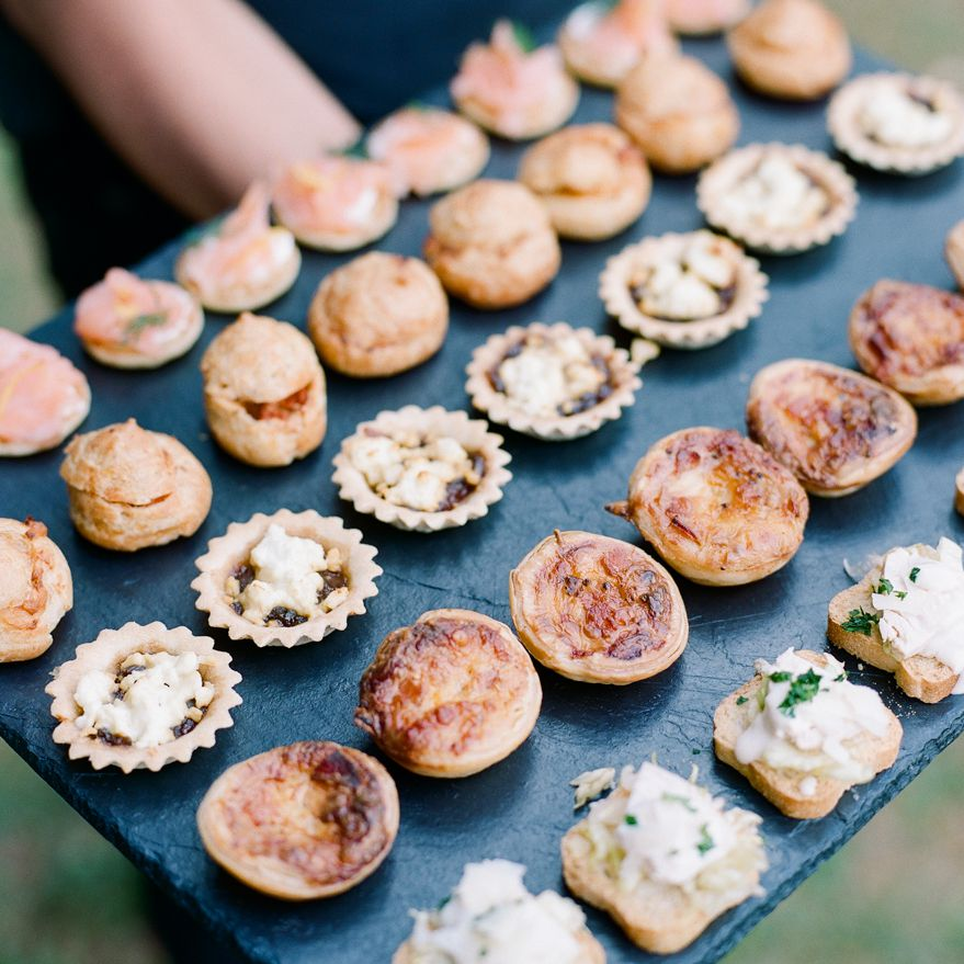 A plate of miniature French appetizers