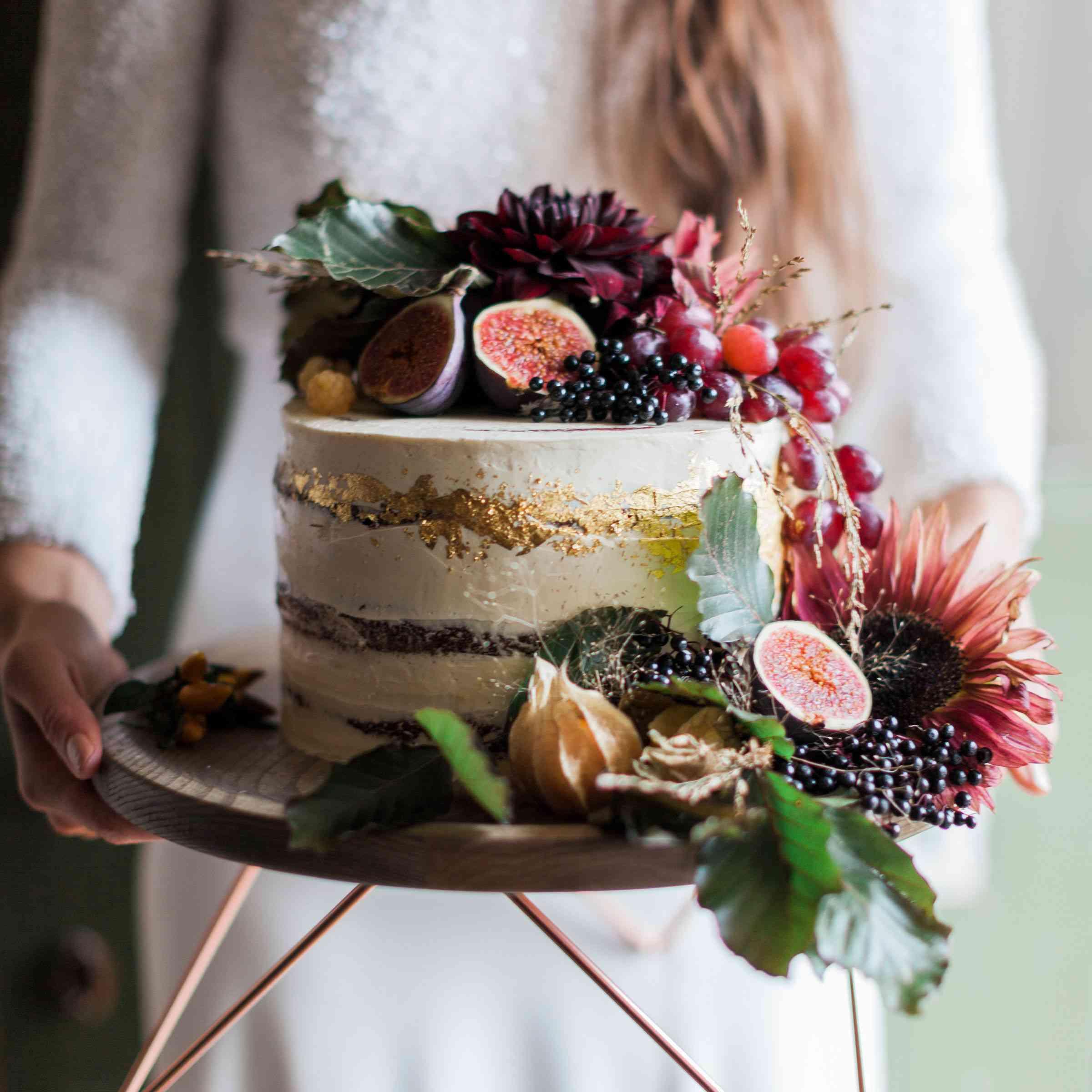 single tier naked cake