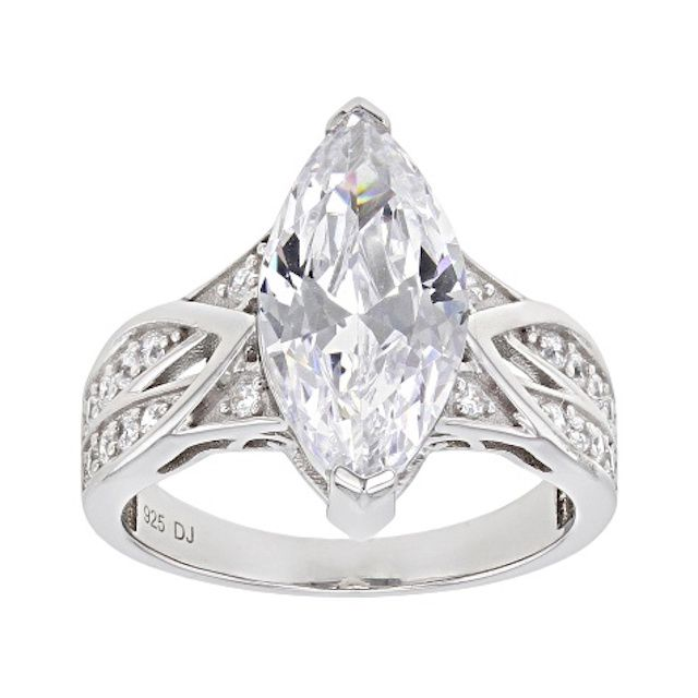 Bella Luce White Cubic Zirconia Platinum Over Sterling Silver Ring