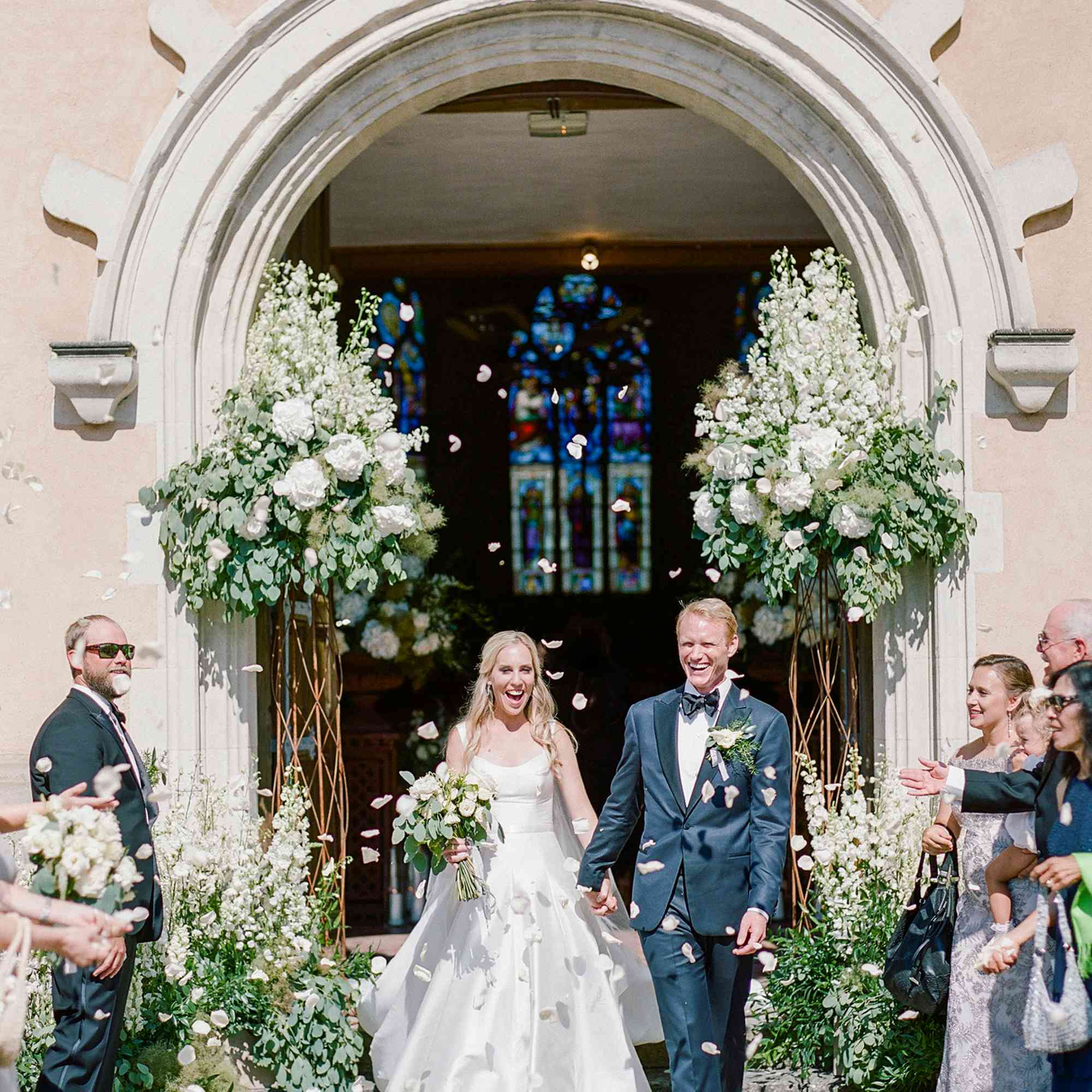 <p>Bride and groom leaving ceremony</p><br><br>