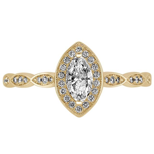 Shane Co. Marquise and Round Diamond Ring