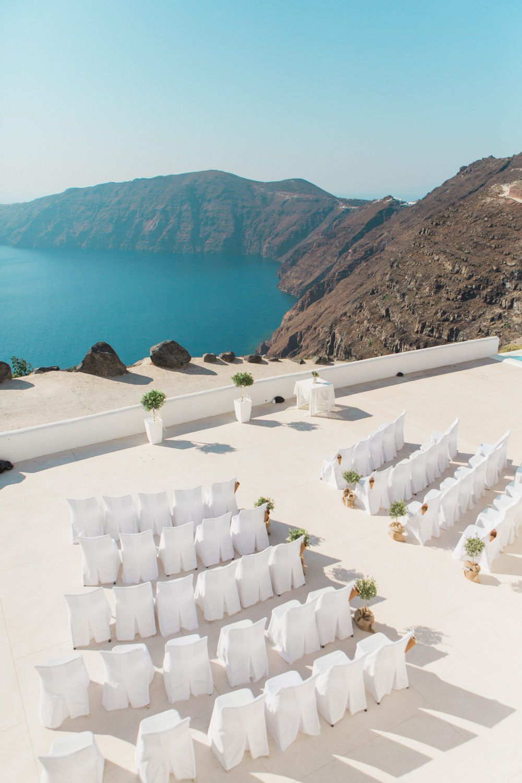 Greek island wedding ceremony