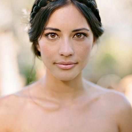 Bride with halo-braided bun