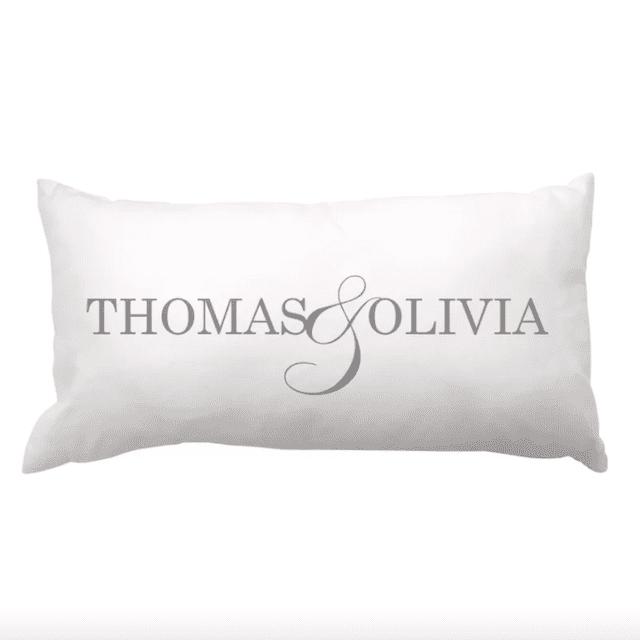 Personalized Linen Lumbar Pillow