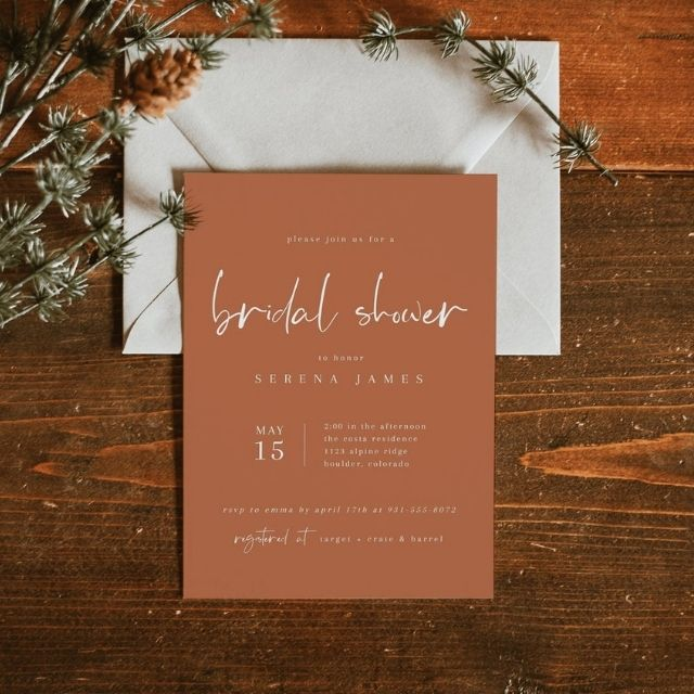 Wedding Dress Shower Invitations; Custom Personalized Shower Invites