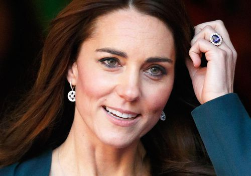 Kate with royal engagement ring