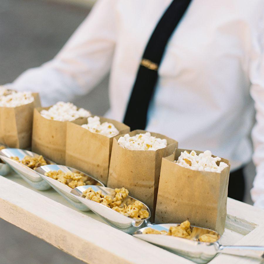 Miniature bags of popcorn.