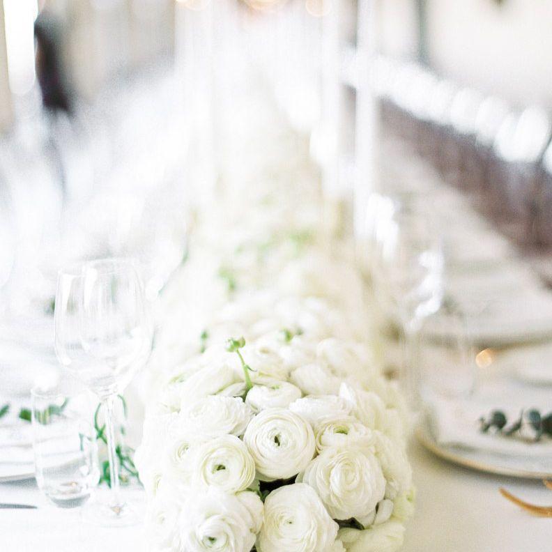 ranunculus flowers on a table setup