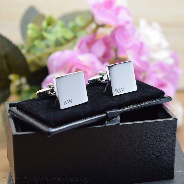 Silver Engraved Cufflinks