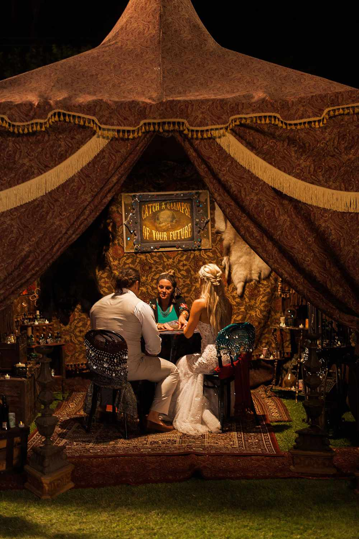wedding entertainment fortune teller