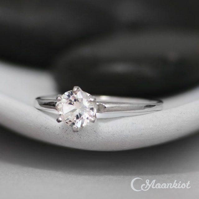white sapphire engagement ring