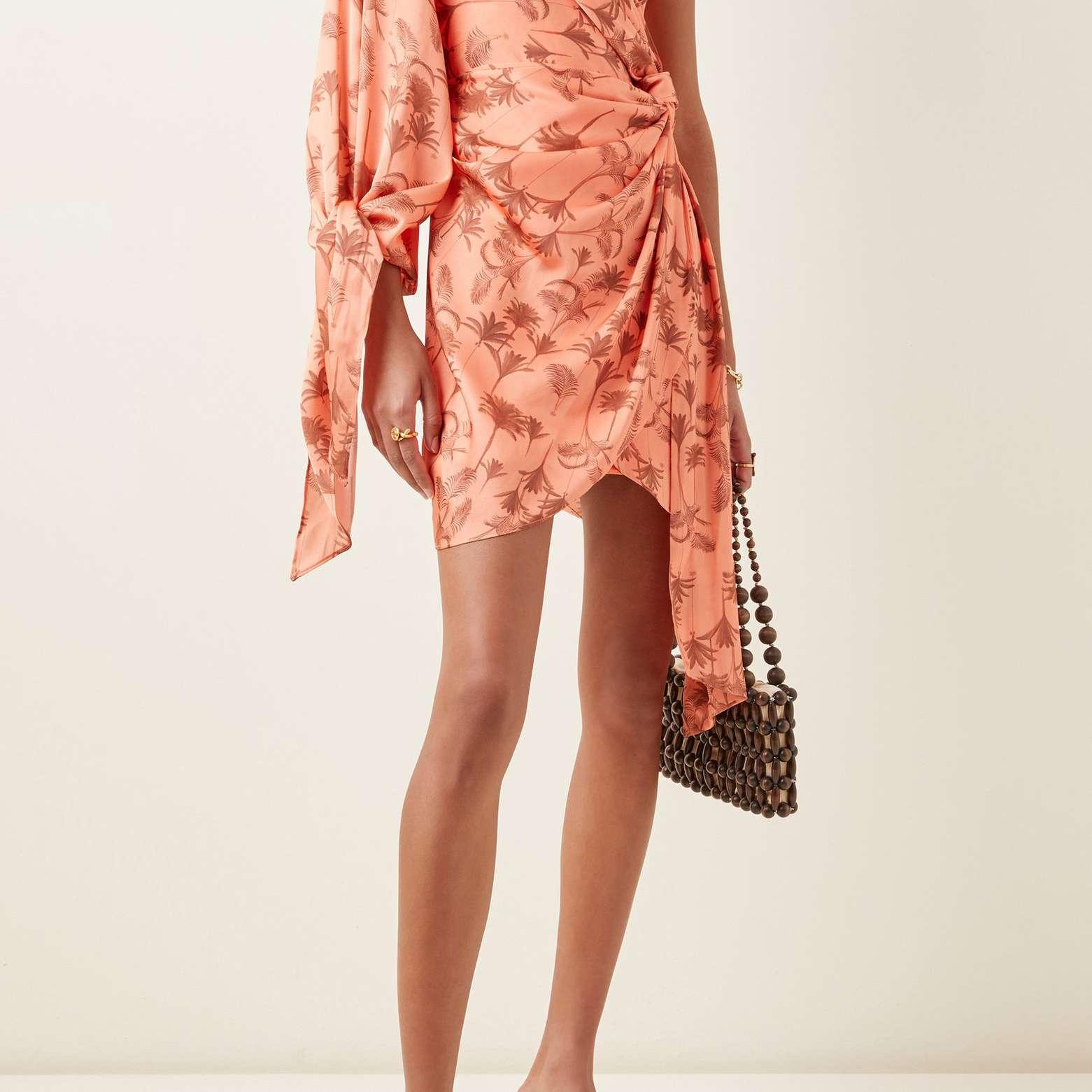 One-Shoulder Georgette Mini Dress