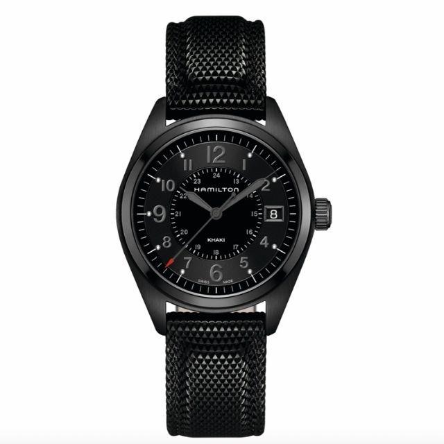 Hamilton Khaki Field Silicone Strap Watch