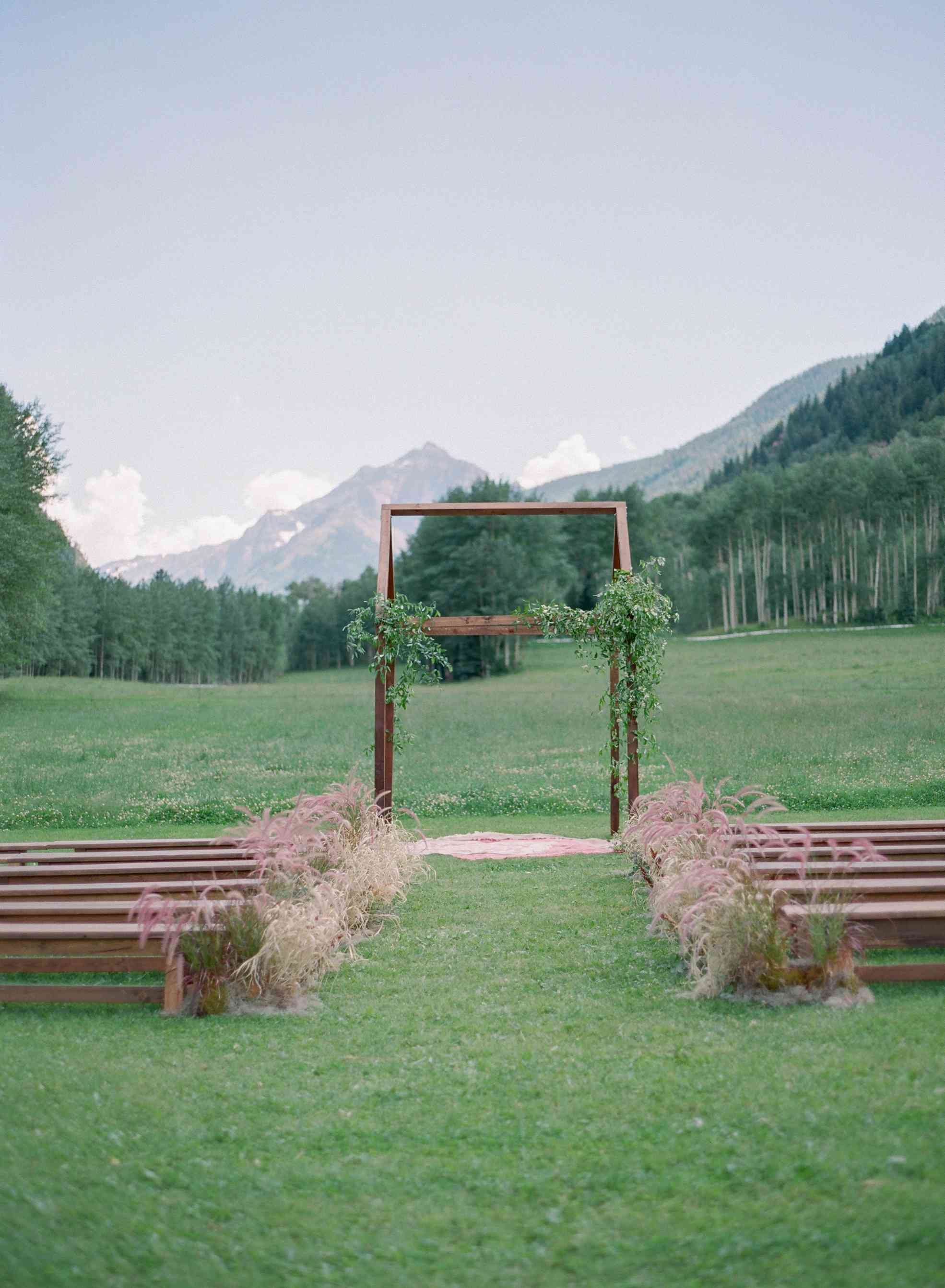 Ceremony Site With Mountain Views