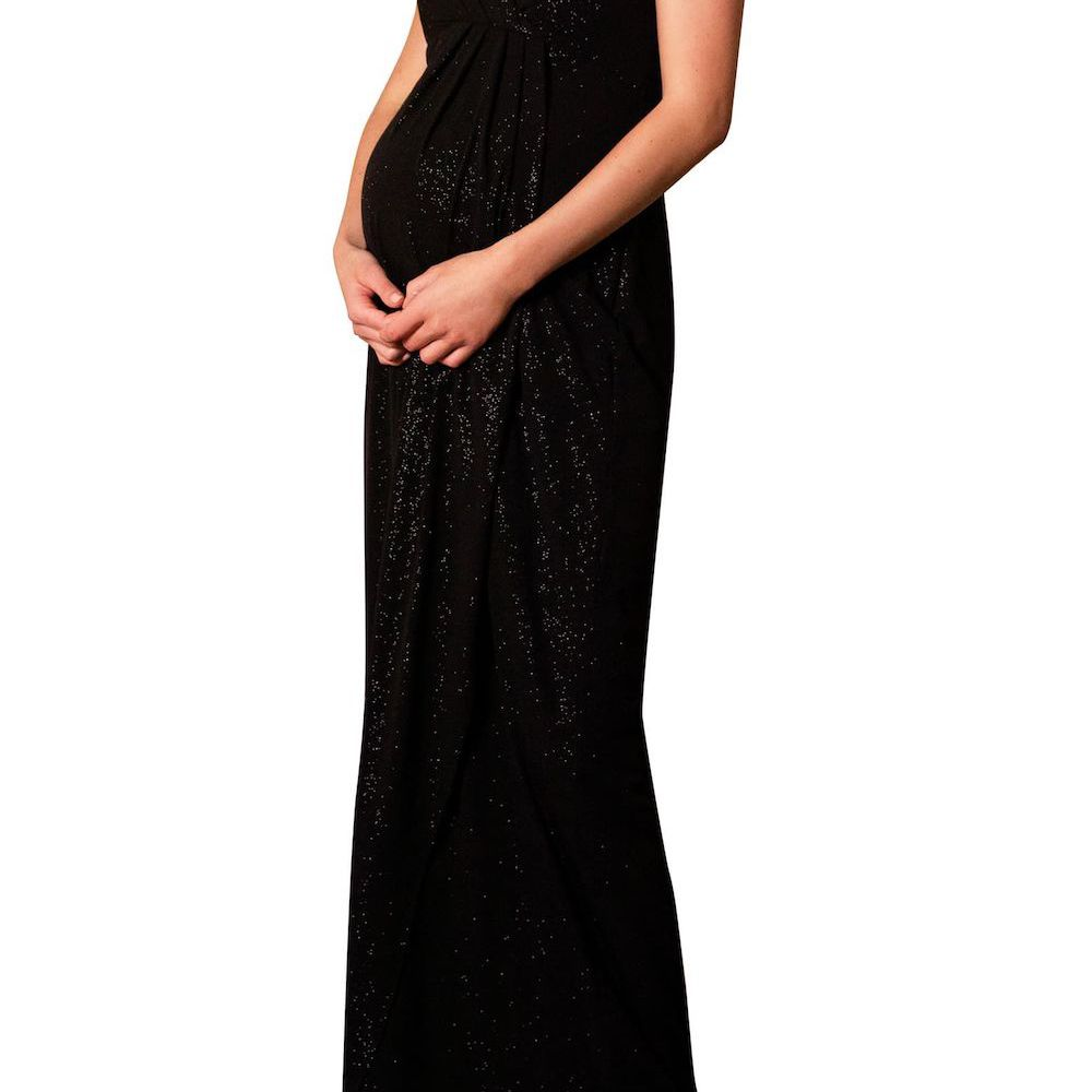 Tiffany Rose Galaxy One-Shoulder Maternity Gown