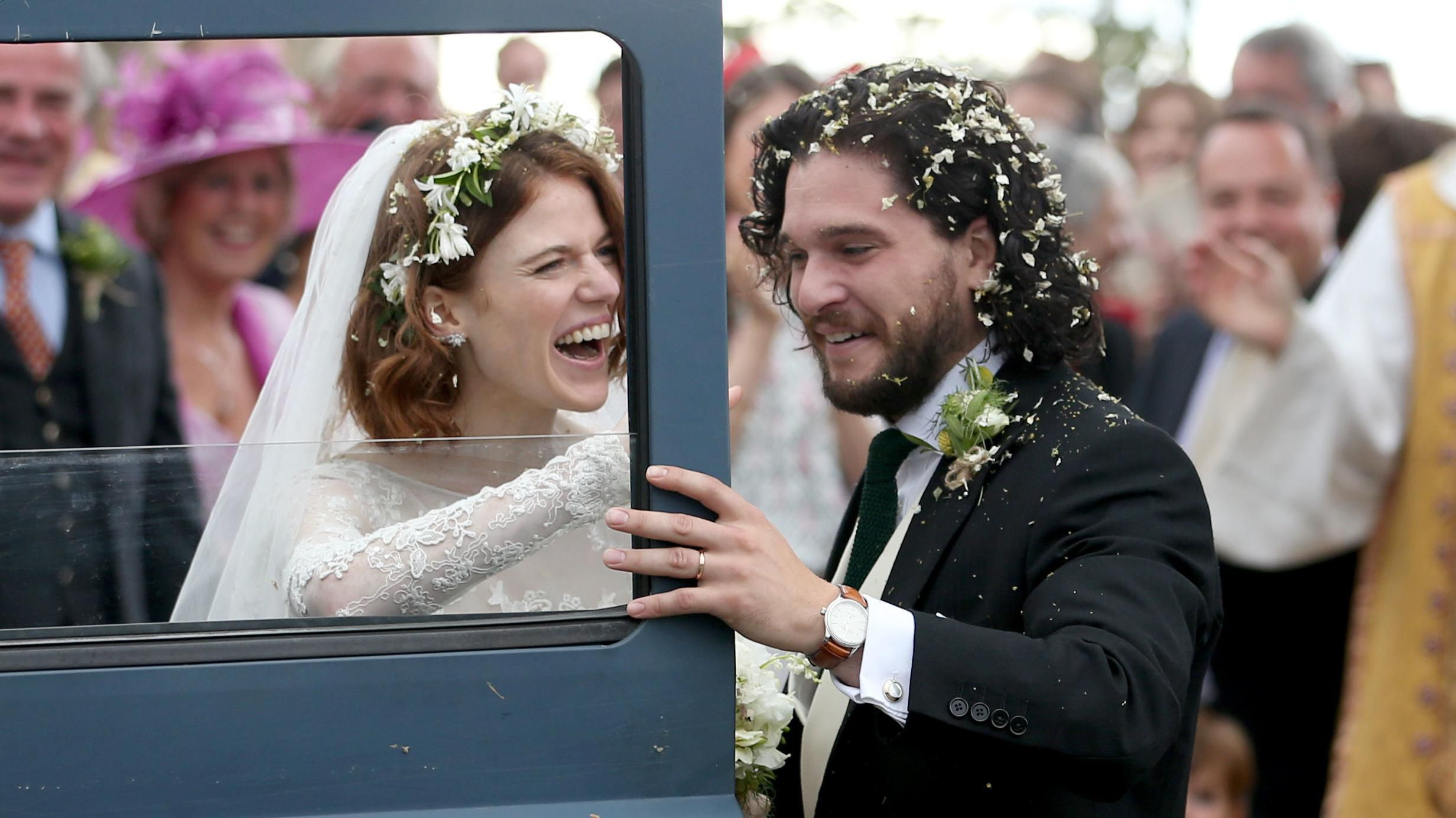 Game of Thrones' Kit Harington and Rose Leslie are Married ...