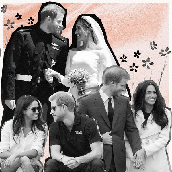 Meghan Markle and Prince Harry photo collage