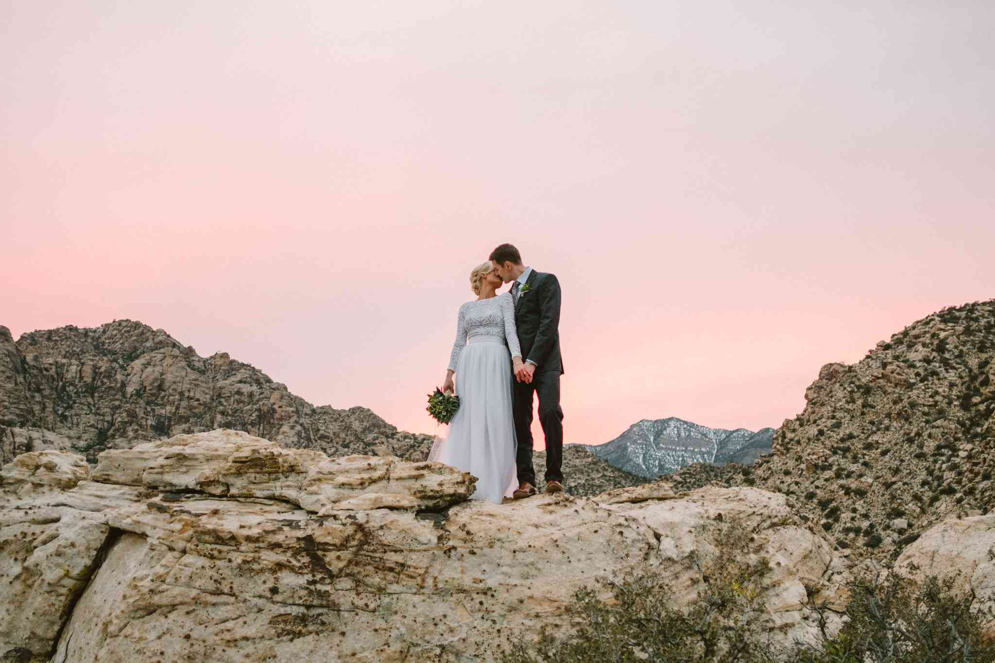<p>Wedding photo at Red Rock Canyon in Nevada</p>