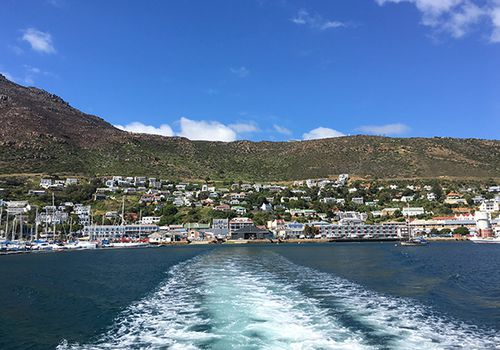 View of Cape Town from the water.