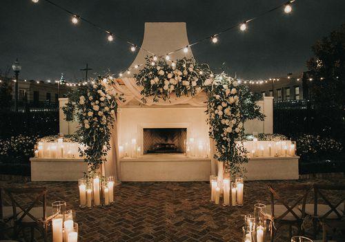 candlit altar