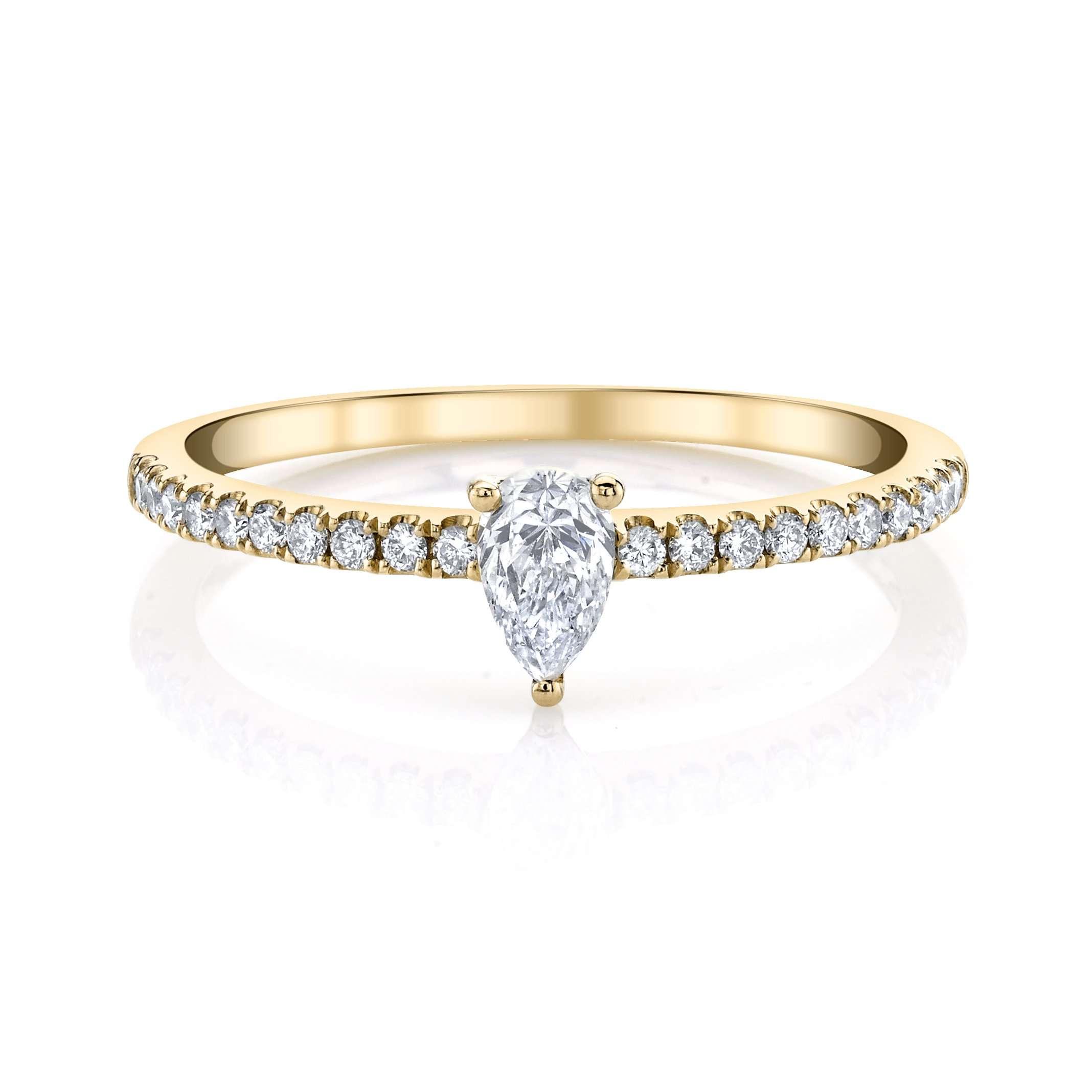 Anita Ko Me/You Pear Diamond Pavé Ring
