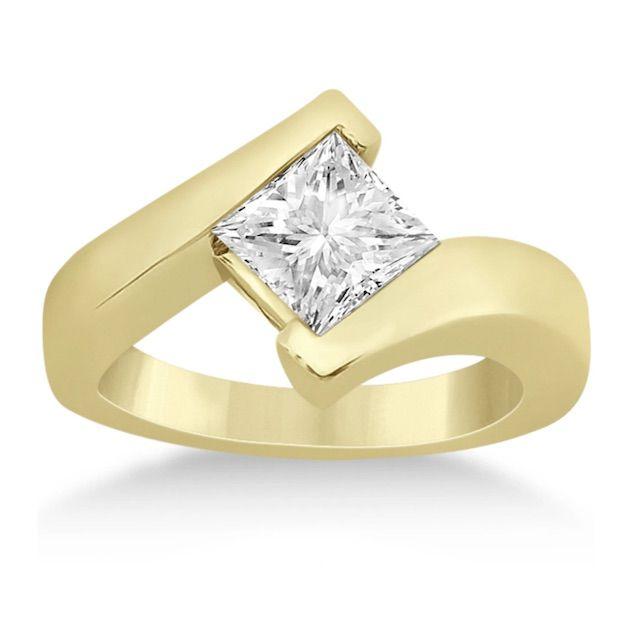 Allurez Princess Cut Tension Set Engagement Ring