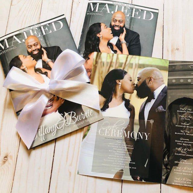 wedding program magazine