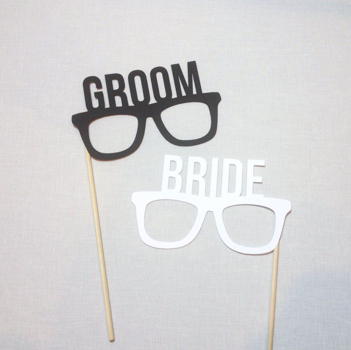 Etsy Bride and Groom Glasses