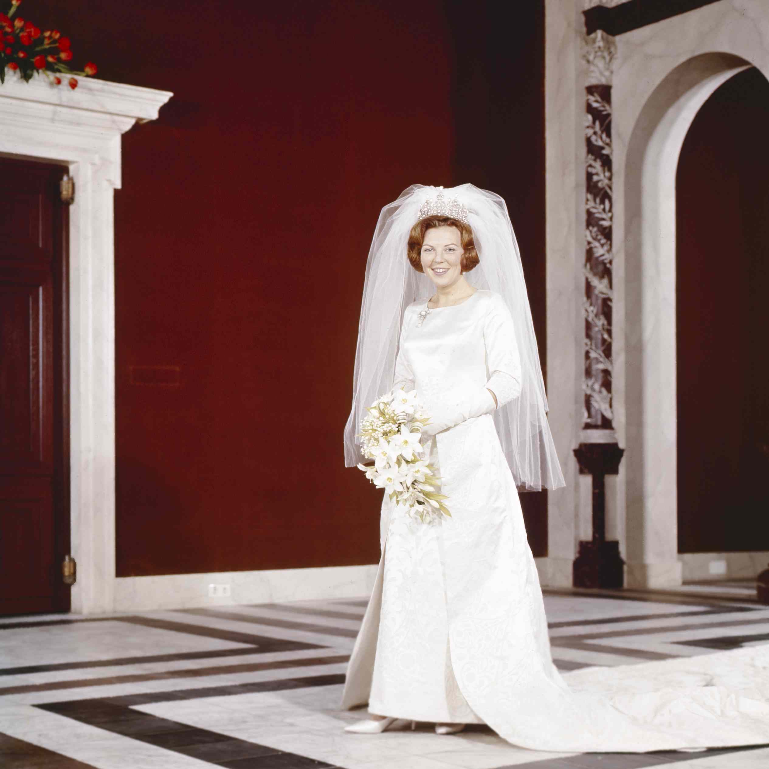 Crown Princess Beatrix of the Netherlands after her wedding