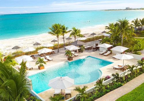 Pool and ocean view at Seven Stars Resort & Spa